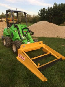 Custom built grading attachment for skid steer or tractor